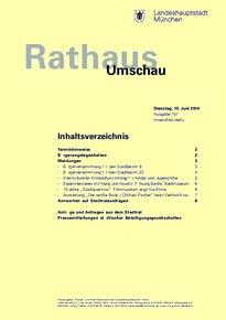 Rathaus Umschau 107 / 2014