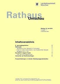 Rathaus Umschau 111 / 2014