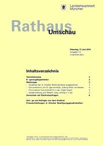 Rathaus Umschau 112 / 2014