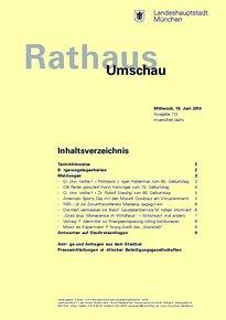 Rathaus Umschau 113 / 2014