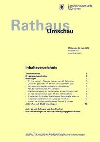 Rathaus Umschau 117 / 2014