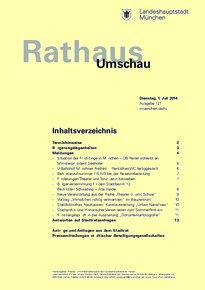 Rathaus Umschau 121 / 2014