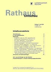 Rathaus Umschau 129 / 2014