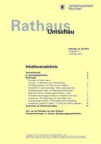 Rathaus Umschau 131 / 2014
