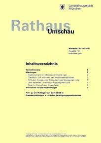 Rathaus Umschau 142 / 2014