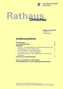 Rathaus Umschau 145 / 2014