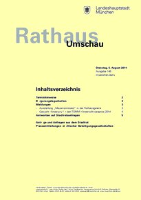 Rathaus Umschau 146 / 2014