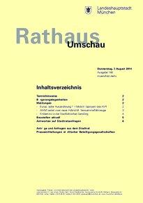 Rathaus Umschau 148 / 2014