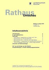 Rathaus Umschau 150 / 2014