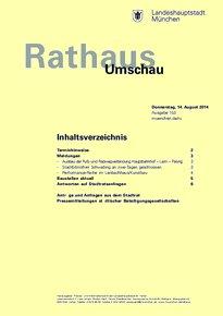 Rathaus Umschau 153 / 2014