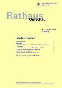 Rathaus Umschau 154 / 2014