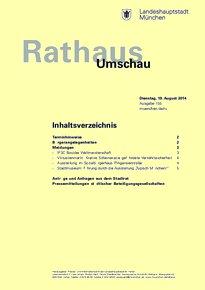 Rathaus Umschau 155 / 2014