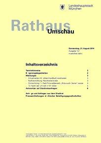 Rathaus Umschau 157 / 2014