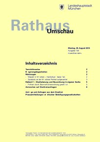 Rathaus Umschau 159 / 2014