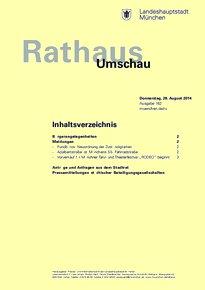Rathaus Umschau 162 / 2014
