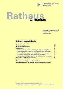Rathaus Umschau 170 / 2014