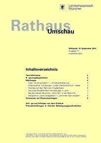 Rathaus Umschau 171 / 2014