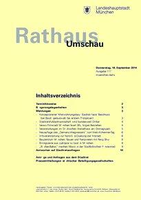 Rathaus Umschau 177 / 2014