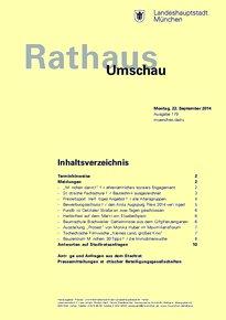 Rathaus Umschau 179 / 2014