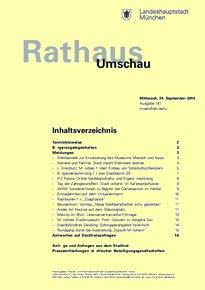 Rathaus Umschau 181 / 2014