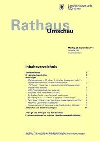 Rathaus Umschau 184 / 2014