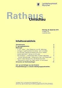 Rathaus Umschau 185 / 2014
