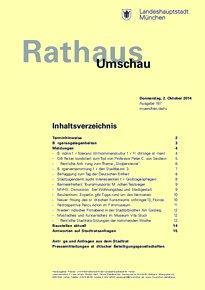 Rathaus Umschau 187 / 2014
