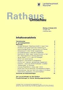 Rathaus Umschau 188 / 2014