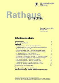 Rathaus Umschau 189 / 2014