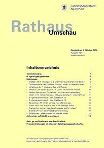 Rathaus Umschau 191 / 2014