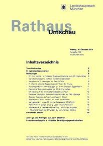 Rathaus Umschau 192 / 2014