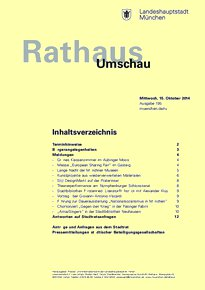 Rathaus Umschau 195 / 2014