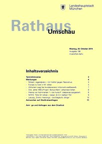 Rathaus Umschau 198 / 2014