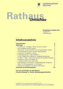 Rathaus Umschau 201 / 2014