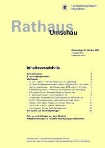 Rathaus Umschau 206 / 2014