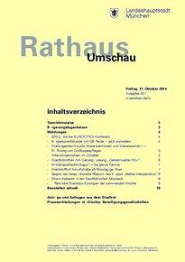 Rathaus Umschau 207 / 2014