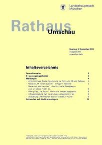 Rathaus Umschau 208 / 2014
