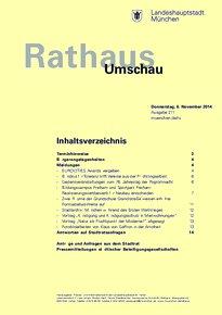 Rathaus Umschau 211 / 2014