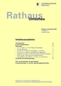 Rathaus Umschau 213 / 2014