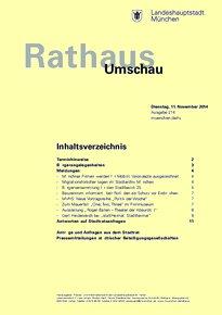 Rathaus Umschau 214 / 2014