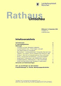 Rathaus Umschau 215 / 2014