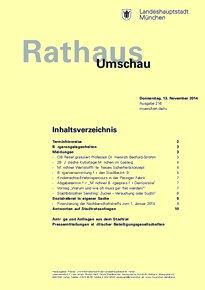 Rathaus Umschau 216 / 2014