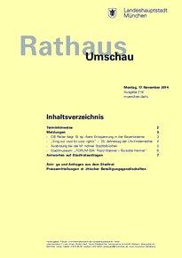Rathaus Umschau 218 / 2014