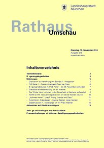 Rathaus Umschau 219 / 2014