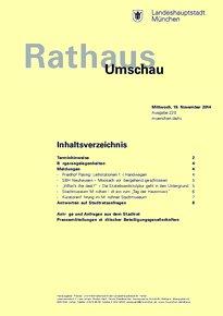Rathaus Umschau 220 / 2014