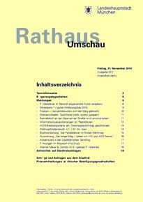 Rathaus Umschau 222 / 2014