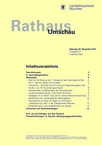 Rathaus Umschau 224 / 2014