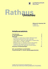 Rathaus Umschau 225 / 2014