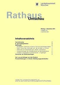Rathaus Umschau 228 / 2014