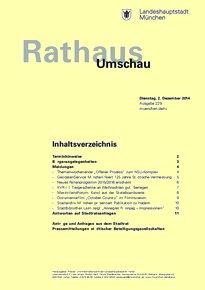 Rathaus Umschau 229 / 2014